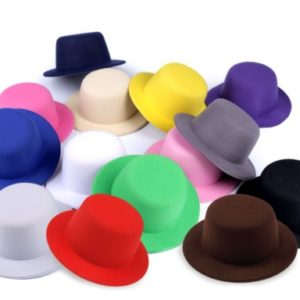 Mini klobúčik / fascinátor na dozdobenie Ø13