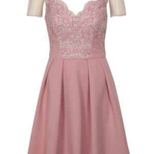 Staroružové šaty Chi Chi London Lorrie - Šaty na stužkovú ružové - saty na stuzkovu - spoločenské šaty na stužkovú - šaty na stužkovú s dlhým rukávom - plesové šaty na stužkovú - princeznovské šaty na stužkovú - tylové šaty na stužkovú - dlhé šaty na stužkovú