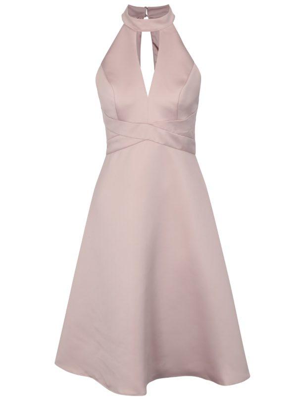 Svetloružové šaty Chi Chi London Perla - Šaty na stužkovú ružové - saty na stuzkovu - spoločenské šaty na stužkovú - šaty na stužkovú s dlhým rukávom - plesové šaty na stužkovú - princeznovské šaty na stužkovú - tylové šaty na stužkovú - dlhé šaty na stužkovú