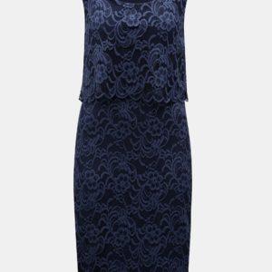 Tmavomodré dojčiace čipkované šaty bez rukávov Mama.licious - šaty na stužkovú  kráľovská modrá - saty na stuzkovu - spoločenské šaty na stužkovú - šaty na stužkovú s dlhým rukávom - plesové šaty na stužkovú - princeznovské šaty na stužkovú - tylové šaty na stužkovú - dlhé šaty na stužkovú