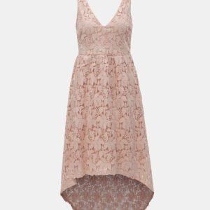 Svetloružové čipkované šaty VILA Kellie - Šaty na stužkovú ružové - saty na stuzkovu - spoločenské šaty na stužkovú - šaty na stužkovú s dlhým rukávom - plesové šaty na stužkovú - princeznovské šaty na stužkovú - tylové šaty na stužkovú - dlhé šaty na stužkovú