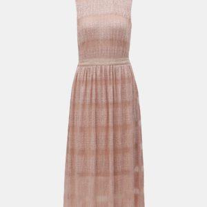 Svetloružové čipkované midišaty VILA Lacina - Šaty na stužkovú ružové - saty na stuzkovu - spoločenské šaty na stužkovú - šaty na stužkovú s dlhým rukávom - plesové šaty na stužkovú - princeznovské šaty na stužkovú - tylové šaty na stužkovú - dlhé šaty na stužkovú