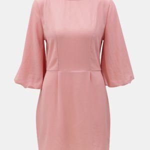 Ružové šaty s 3/4 rukávmi AX Paris - Šaty na stužkovú ružové - saty na stuzkovu - spoločenské šaty na stužkovú - šaty na stužkovú s dlhým rukávom - plesové šaty na stužkovú - princeznovské šaty na stužkovú - tylové šaty na stužkovú - dlhé šaty na stužkovú
