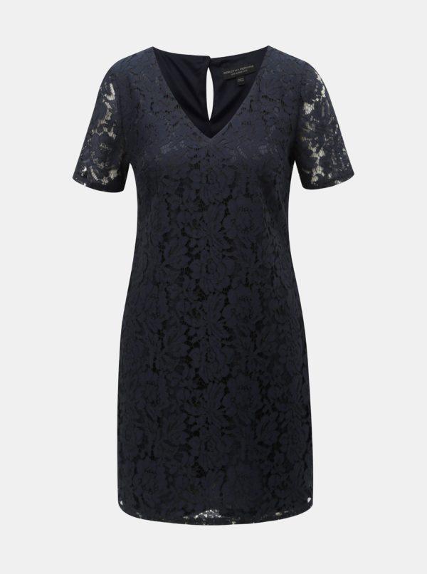 Tmavomodré čipkované šaty Dorothy Perkins - šaty na stužkovú  kráľovská modrá - saty na stuzkovu - spoločenské šaty na stužkovú - šaty na stužkovú s dlhým rukávom - plesové šaty na stužkovú - princeznovské šaty na stužkovú - tylové šaty na stužkovú - dlhé šaty na stužkovú