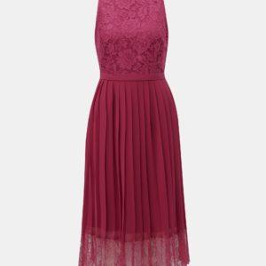 Vínové šaty s čipkou Little Mistress - Šaty na stužkovú vínová bordová - saty na stuzkovu - spoločenské šaty na stužkovú - šaty na stužkovú s dlhým rukávom - plesové šaty na stužkovú - princeznovské šaty na stužkovú - tylové šaty na stužkovú - dlhé šaty na stužkovú