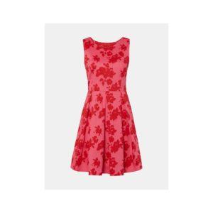 Ružové kvetované šaty Tom Tailor - Šaty na stužkovú ružové - saty na stuzkovu - spoločenské šaty na stužkovú - šaty na stužkovú s dlhým rukávom - plesové šaty na stužkovú - princeznovské šaty na stužkovú - tylové šaty na stužkovú - dlhé šaty na stužkovú