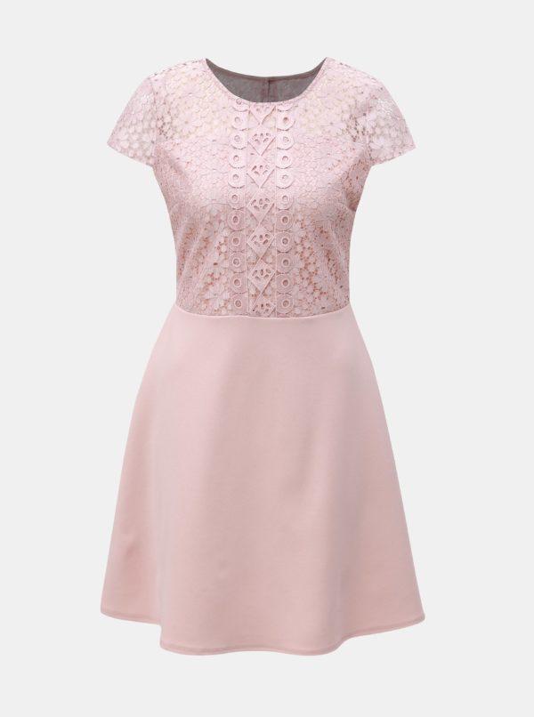 Ružové šaty s čipkou Dorothy Perkins - Šaty na stužkovú ružové - saty na stuzkovu - spoločenské šaty na stužkovú - šaty na stužkovú s dlhým rukávom - plesové šaty na stužkovú - princeznovské šaty na stužkovú - tylové šaty na stužkovú - dlhé šaty na stužkovú