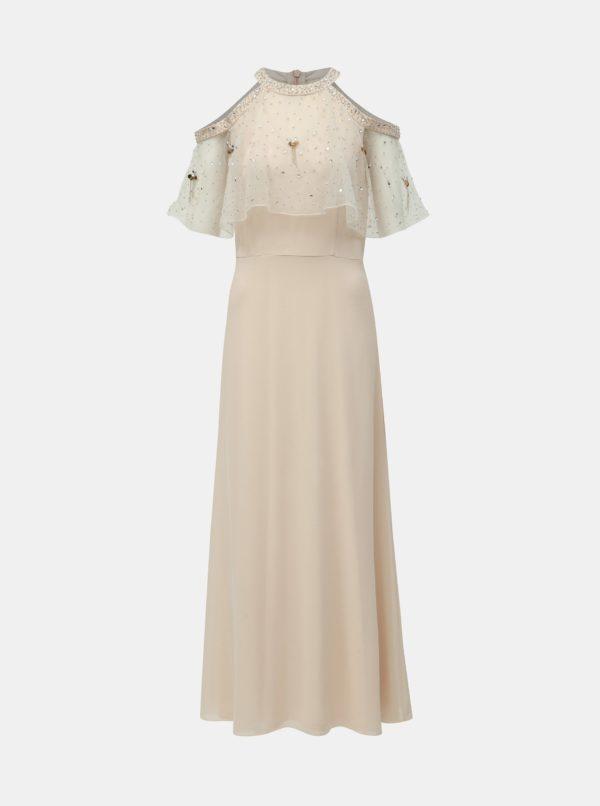 Svetloružové maxišaty s volánom Dorothy Perkins - šaty na stužkovú - saty na stuzkovu - spoločenské šaty na stužkovú - šaty na stužkovú s dlhým rukávom - plesové šaty na stužkovú - princeznovské šaty na stužkovú - tylové šaty na stužkovú - dlhé šaty na stužkovú