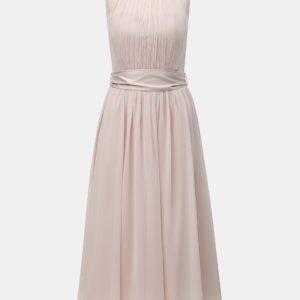 Svetloružové midišaty Dorothy Perkins - Šaty na stužkovú ružové - saty na stuzkovu - spoločenské šaty na stužkovú - šaty na stužkovú s dlhým rukávom - plesové šaty na stužkovú - princeznovské šaty na stužkovú - tylové šaty na stužkovú - dlhé šaty na stužkovú