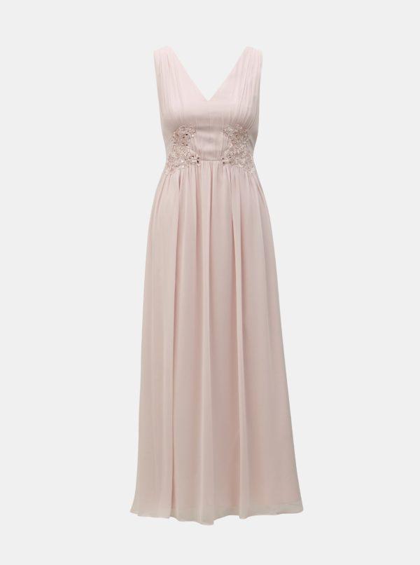 Staroružové maxišaty Dorothy Perkins - šaty na stužkovú - saty na stuzkovu - spoločenské šaty na stužkovú - šaty na stužkovú s dlhým rukávom - plesové šaty na stužkovú - princeznovské šaty na stužkovú - tylové šaty na stužkovú - dlhé šaty na stužkovú
