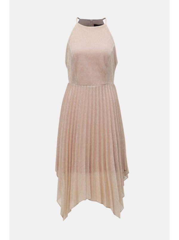 Staroružové plisované šaty na ramienka Dorothy Perkins - Šaty na stužkovú ružové - saty na stuzkovu - spoločenské šaty na stužkovú - šaty na stužkovú s dlhým rukávom - plesové šaty na stužkovú - princeznovské šaty na stužkovú - tylové šaty na stužkovú - dlhé šaty na stužkovú