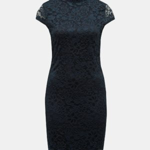 Tmavomodré čipkované šaty ONLY Alba - šaty na stužkovú  kráľovská modrá - saty na stuzkovu - spoločenské šaty na stužkovú - šaty na stužkovú s dlhým rukávom - plesové šaty na stužkovú - princeznovské šaty na stužkovú - tylové šaty na stužkovú - dlhé šaty na stužkovú