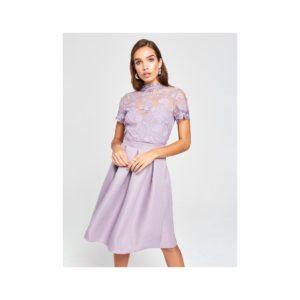 Svetlofialové šaty s krajkou Little Mistress - Šaty na stužkovú fialové - saty na stuzkovu - spoločenské šaty na stužkovú - šaty na stužkovú s dlhým rukávom - plesové šaty na stužkovú - princeznovské šaty na stužkovú - tylové šaty na stužkovú - dlhé šaty na stužkovú