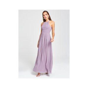 Svetlofialové maxišaty s priestrihom Little Mistress - šaty na stužkovú - saty na stuzkovu - spoločenské šaty na stužkovú - šaty na stužkovú s dlhým rukávom - plesové šaty na stužkovú - princeznovské šaty na stužkovú - tylové šaty na stužkovú - dlhé šaty na stužkovú