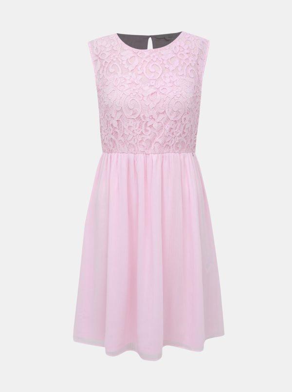 Rúžové krajkové šaty Tom Tailor Denim - Šaty na stužkovú ružové - saty na stuzkovu - spoločenské šaty na stužkovú - šaty na stužkovú s dlhým rukávom - plesové šaty na stužkovú - princeznovské šaty na stužkovú - tylové šaty na stužkovú - dlhé šaty na stužkovú