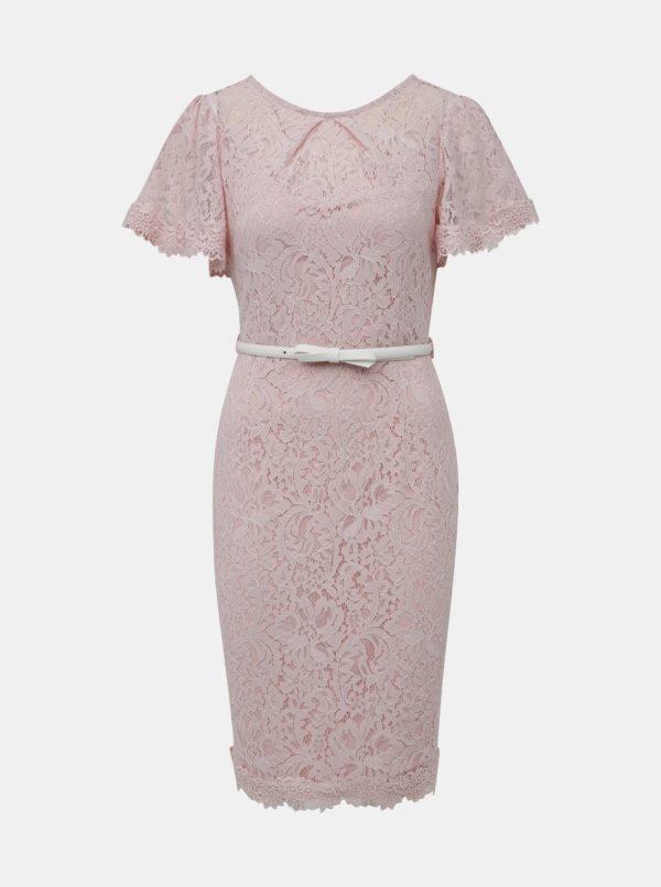 Staroružové krajkové šaty s opaskom Dorothy Perkins - Šaty na stužkovú ružové - saty na stuzkovu - spoločenské šaty na stužkovú - šaty na stužkovú s dlhým rukávom - plesové šaty na stužkovú - princeznovské šaty na stužkovú - tylové šaty na stužkovú - dlhé šaty na stužkovú