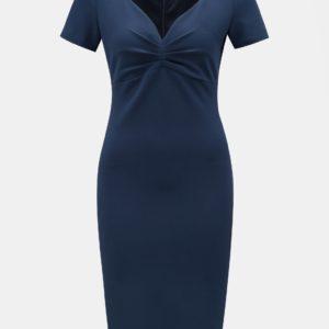 Tmavomodré puzdrové šaty s krátkym rukávom ZOOT - šaty na stužkovú  kráľovská modrá - saty na stuzkovu - spoločenské šaty na stužkovú - šaty na stužkovú s dlhým rukávom - plesové šaty na stužkovú - princeznovské šaty na stužkovú - tylové šaty na stužkovú - dlhé šaty na stužkovú