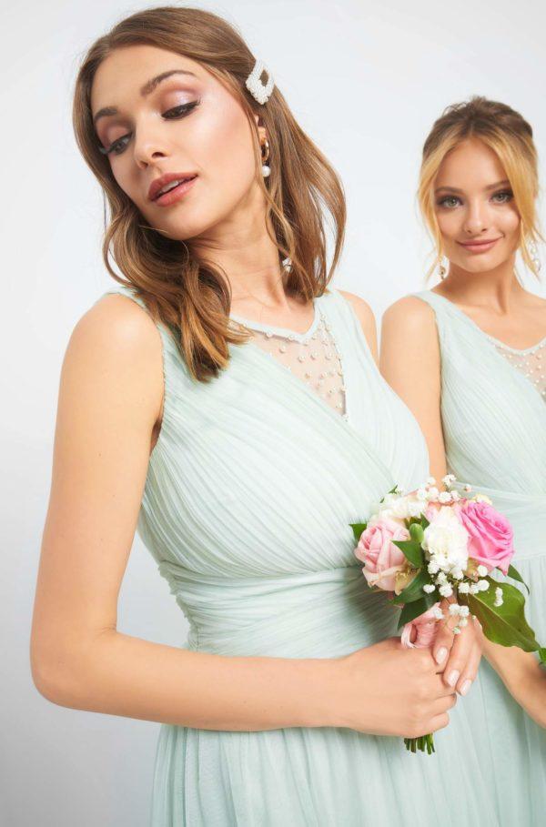 Svadobné šaty s perličkami - šaty na stužkovú - saty na stuzkovu - spoločenské šaty na stužkovú - šaty na stužkovú s dlhým rukávom - plesové šaty na stužkovú - princeznovské šaty na stužkovú - tylové šaty na stužkovú - dlhé šaty na stužkovú