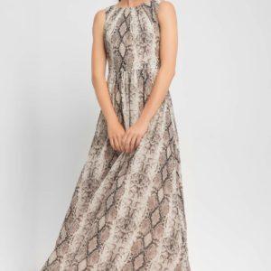 Maxi šaty s hadím vzorom - šaty na stužkovú - saty na stuzkovu - spoločenské šaty na stužkovú - šaty na stužkovú s dlhým rukávom - plesové šaty na stužkovú - princeznovské šaty na stužkovú - tylové šaty na stužkovú - dlhé šaty na stužkovú