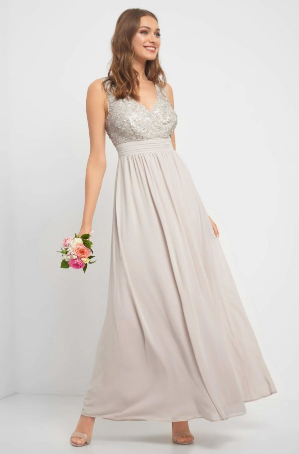 Maxi šay s flitrami - šaty na stužkovú - saty na stuzkovu - spoločenské šaty na stužkovú - šaty na stužkovú s dlhým rukávom - plesové šaty na stužkovú - princeznovské šaty na stužkovú - tylové šaty na stužkovú - dlhé šaty na stužkovú