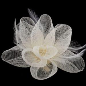 Fascinátor / brošňa kvet - doplnky do vlasov - fascinátor - extravagantné doplnky k spoločenským šatám - čelenka do vlasov - doplnky na stužkovú - šaty na stužkovú mama