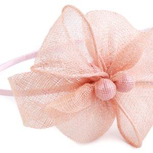 Fascinátor čelenka s kvetom - doplnky do vlasov - fascinátor - extravagantné doplnky k spoločenským šatám - čelenka do vlasov - doplnky na stužkovú - šaty na stužkovú mama