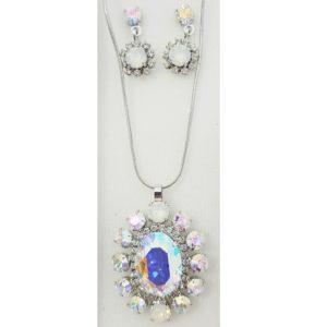 najlacnejšia bižutéria - náhrdelník - lacná bižutéria - bižutéria náušnice - bižutéria náhrdelníky - lacna bizuteria - swarovski sety - swarovsi náhrdelník - najlacnejšia bižutéria - swarovski set - doplnky na stužkovú - šperky sety - šperky z chirurgickej ocele - bižutéria sety - bižutéria náhrdelníky - darček na stužkovú - šperky na stužkovú - set náhrdelník náušnice - Set Bloom SWAROVSKI-Kryštálová AB KP4735
