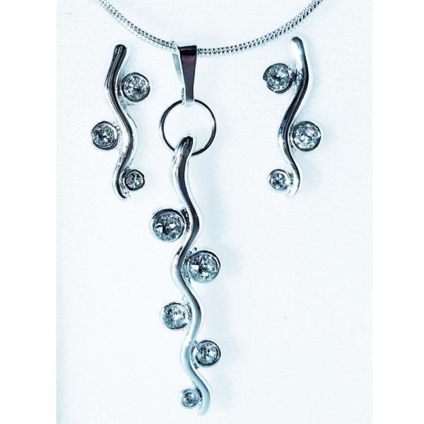 najlacnejšia bižutéria - náhrdelník - lacná bižutéria - bižutéria náušnice - bižutéria náhrdelníky - lacna bizuteria - swarovski sety - swarovsi náhrdelník - najlacnejšia bižutéria - swarovski set - doplnky na stužkovú - šperky sety - šperky z chirurgickej ocele - bižutéria sety - bižutéria náhrdelníky - darček na stužkovú - šperky na stužkovú - set náhrdelník náušnice - Set Elinor SWAROVSKI-Strieborná KP3947