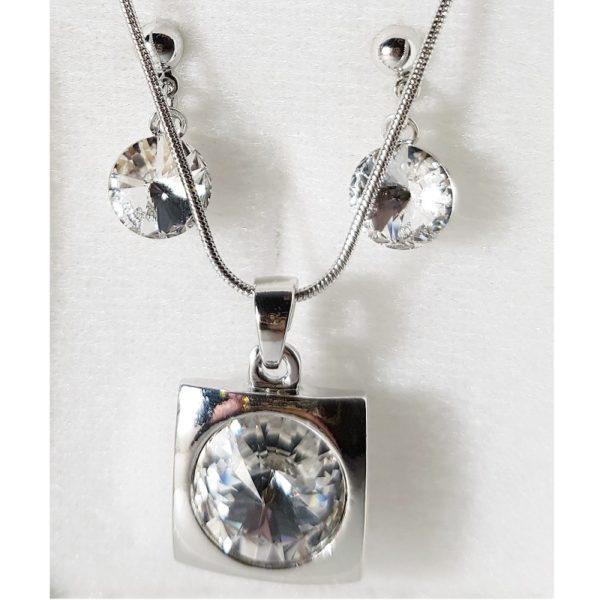 najlacnejšia bižutéria - náhrdelník - lacná bižutéria - bižutéria náušnice - bižutéria náhrdelníky - lacna bizuteria - swarovski sety - swarovsi náhrdelník - najlacnejšia bižutéria - swarovski set - doplnky na stužkovú - šperky sety - šperky z chirurgickej ocele - bižutéria sety - bižutéria náhrdelníky - darček na stužkovú - šperky na stužkovú - set náhrdelník náušnice - Set Emily SWAROVSKI-Str./Kryštálová KP3935
