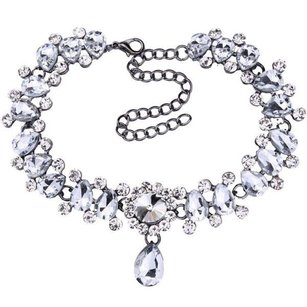 najlacnejšia bižutéria - náhrdelník - lacná bižutéria - bižutéria náušnice - bižutéria náhrdelníky - lacna bizuteria - swarovski sety - swarovsi náhrdelník - najlacnejšia bižutéria - swarovski set - doplnky na stužkovú - šperky sety - šperky z chirurgickej ocele - bižutéria sety - bižutéria náhrdelníky - darček na stužkovú - šperky na stužkovú - set náhrdelník náušnice - Náhrdelník First Lady-Kryštálová KP2391