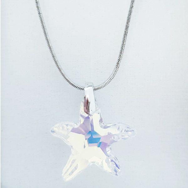 najlacnejšia bižutéria - náhrdelník - lacná bižutéria - bižutéria náušnice - bižutéria náhrdelníky - lacna bizuteria - swarovski sety - swarovsi náhrdelník - najlacnejšia bižutéria - swarovski set - doplnky na stužkovú - šperky sety - šperky z chirurgickej ocele - bižutéria sety - bižutéria náhrdelníky - darček na stužkovú - šperky na stužkovú - set náhrdelník náušnice - Náhrdelník Hviezda SWAROVSKI-KryštálováAB KP3890