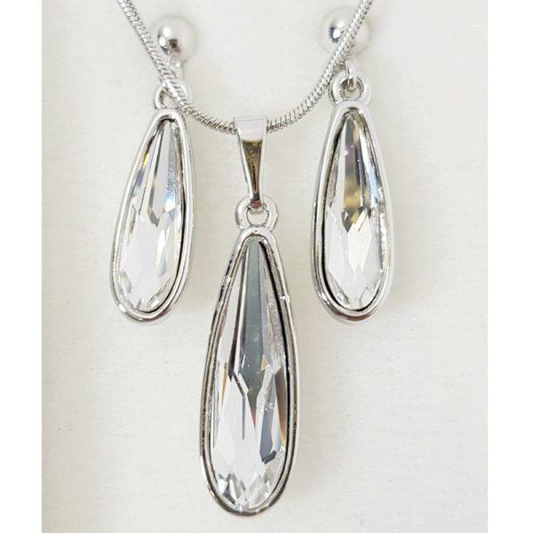 najlacnejšia bižutéria - náhrdelník - lacná bižutéria - bižutéria náušnice - bižutéria náhrdelníky - lacna bizuteria - swarovski sety - swarovsi náhrdelník - najlacnejšia bižutéria - swarovski set - doplnky na stužkovú - šperky sety - šperky z chirurgickej ocele - bižutéria sety - bižutéria náhrdelníky - darček na stužkovú - šperky na stužkovú - set náhrdelník náušnice - Set Inez SWAROVSKI-Kryštálová KP3911