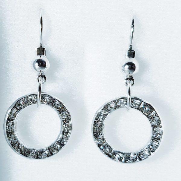 lacna bizuteria - najlacnejšia bižutéria - doplnky na stužkovú - šperky sety - šperky z chirurgickej ocele - darček na stužkovú - šperky na stužkovú - Náušnice Kruhy SWAROVSKI-Strieborná KP3928