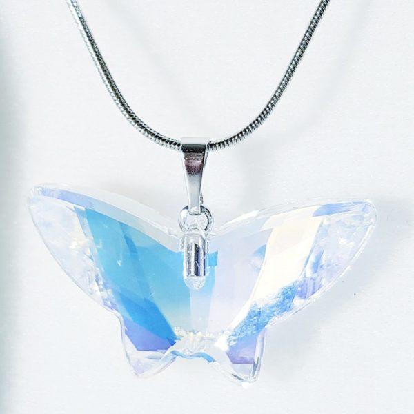 najlacnejšia bižutéria - náhrdelník - lacná bižutéria - bižutéria náušnice - bižutéria náhrdelníky - lacna bizuteria - swarovski sety - swarovsi náhrdelník - najlacnejšia bižutéria - swarovski set - doplnky na stužkovú - šperky sety - šperky z chirurgickej ocele - bižutéria sety - bižutéria náhrdelníky - darček na stužkovú - šperky na stužkovú - set náhrdelník náušnice - Náhrdelník Motýlik SWAROVSKI-Kryštálová KP3930