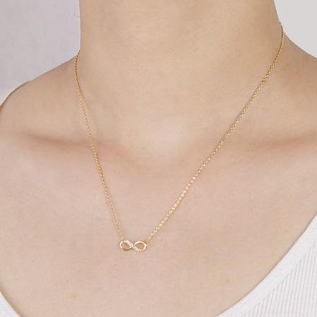 najlacnejšia bižutéria - náhrdelník - lacná bižutéria - bižutéria náušnice - bižutéria náhrdelníky - lacna bizuteria - swarovski sety - swarovsi náhrdelník - najlacnejšia bižutéria - swarovski set - doplnky na stužkovú - šperky sety - šperky z chirurgickej ocele - bižutéria sety - bižutéria náhrdelníky - darček na stužkovú - šperky na stužkovú - set náhrdelník náušnice - Náhrdelník Nekonečno-Zlatá KP3090