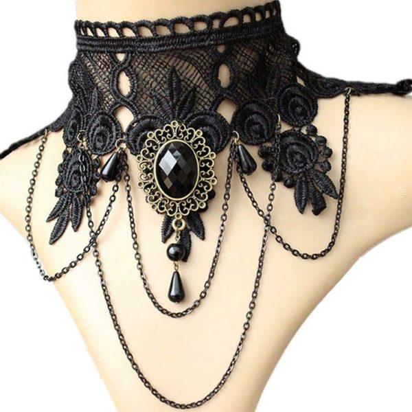 najlacnejšia bižutéria - náhrdelník - lacná bižutéria - bižutéria náušnice - bižutéria náhrdelníky - lacna bizuteria - swarovski sety - swarovsi náhrdelník - najlacnejšia bižutéria - swarovski set - doplnky na stužkovú - šperky sety - šperky z chirurgickej ocele - bižutéria sety - bižutéria náhrdelníky - darček na stužkovú - šperky na stužkovú - set náhrdelník náušnice - Náhrdelník Black Romance-Čierna KP3300