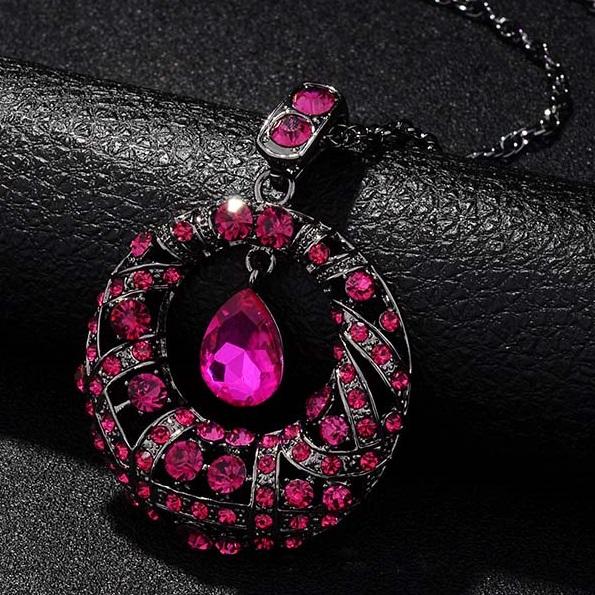 najlacnejšia bižutéria - náhrdelník - lacná bižutéria - bižutéria náušnice - bižutéria náhrdelníky - lacna bizuteria - swarovski sety - swarovsi náhrdelník - najlacnejšia bižutéria - swarovski set - doplnky na stužkovú - šperky sety - šperky z chirurgickej ocele - bižutéria sety - bižutéria náhrdelníky - darček na stužkovú - šperky na stužkovú - set náhrdelník náušnice - Náhrdelník Alisia-Ružová KP3597