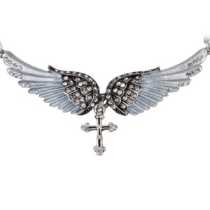 najlacnejšia bižutéria - náhrdelník - lacná bižutéria - bižutéria náušnice - bižutéria náhrdelníky - lacna bizuteria - swarovski sety - swarovsi náhrdelník - najlacnejšia bižutéria - swarovski set - doplnky na stužkovú - šperky sety - šperky z chirurgickej ocele - bižutéria sety - bižutéria náhrdelníky - darček na stužkovú - šperky na stužkovú - set náhrdelník náušnice - Náhrdelník Angel Cross-Strieborná KP2272
