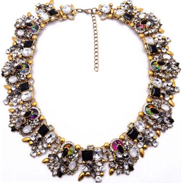 najlacnejšia bižutéria - náhrdelník - lacná bižutéria - bižutéria náušnice - bižutéria náhrdelníky - lacna bizuteria - swarovski sety - swarovsi náhrdelník - najlacnejšia bižutéria - swarovski set - doplnky na stužkovú - šperky sety - šperky z chirurgickej ocele - bižutéria sety - bižutéria náhrdelníky - darček na stužkovú - šperky na stužkovú - set náhrdelník náušnice - Náhrdelník Bloom Flower-Čierna KP2406