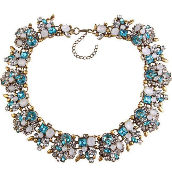 najlacnejšia bižutéria - náhrdelník - lacná bižutéria - bižutéria náušnice - bižutéria náhrdelníky - lacna bizuteria - swarovski sety - swarovsi náhrdelník - najlacnejšia bižutéria - swarovski set - doplnky na stužkovú - šperky sety - šperky z chirurgickej ocele - bižutéria sety - bižutéria náhrdelníky - darček na stužkovú - šperky na stužkovú - set náhrdelník náušnice - Náhrdelník Bloom Flower-Slabo Modrá KP2411