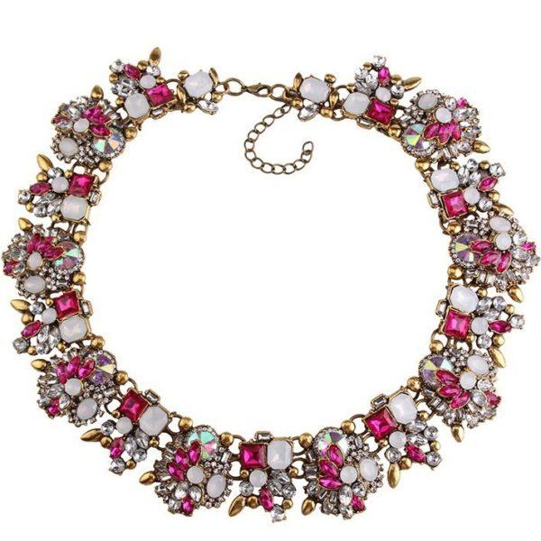 najlacnejšia bižutéria - náhrdelník - lacná bižutéria - bižutéria náušnice - bižutéria náhrdelníky - lacna bizuteria - swarovski sety - swarovsi náhrdelník - najlacnejšia bižutéria - swarovski set - doplnky na stužkovú - šperky sety - šperky z chirurgickej ocele - bižutéria sety - bižutéria náhrdelníky - darček na stužkovú - šperky na stužkovú - set náhrdelník náušnice - Náhrdelník Bloom Flower-Ružová KP2407