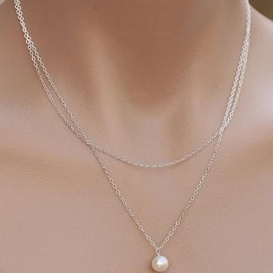 najlacnejšia bižutéria - náhrdelník - lacná bižutéria - bižutéria náušnice - bižutéria náhrdelníky - lacna bizuteria - swarovski sety - swarovsi náhrdelník - najlacnejšia bižutéria - swarovski set - doplnky na stužkovú - šperky sety - šperky z chirurgickej ocele - bižutéria sety - bižutéria náhrdelníky - darček na stužkovú - šperky na stužkovú - set náhrdelník náušnice - Náhrdelník Double Pearl-Str. KP3710
