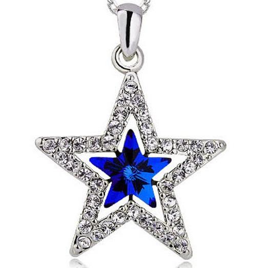 najlacnejšia bižutéria - náhrdelník - lacná bižutéria - bižutéria náušnice - bižutéria náhrdelníky - lacna bizuteria - swarovski sety - swarovsi náhrdelník - najlacnejšia bižutéria - swarovski set - doplnky na stužkovú - šperky sety - šperky z chirurgickej ocele - bižutéria sety - bižutéria náhrdelníky - darček na stužkovú - šperky na stužkovú - set náhrdelník náušnice - Náhrdelník Glow-Modrá KP2622
