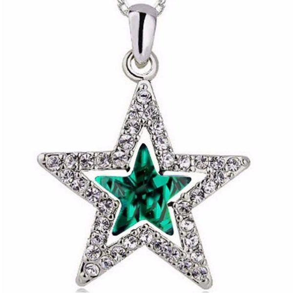 najlacnejšia bižutéria - náhrdelník - lacná bižutéria - bižutéria náušnice - bižutéria náhrdelníky - lacna bizuteria - swarovski sety - swarovsi náhrdelník - najlacnejšia bižutéria - swarovski set - doplnky na stužkovú - šperky sety - šperky z chirurgickej ocele - bižutéria sety - bižutéria náhrdelníky - darček na stužkovú - šperky na stužkovú - set náhrdelník náušnice - Náhrdelník Glow-Zelená KP2624