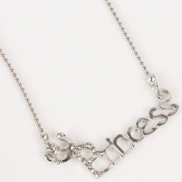 najlacnejšia bižutéria - náhrdelník - lacná bižutéria - bižutéria náušnice - bižutéria náhrdelníky - lacna bizuteria - swarovski sety - swarovsi náhrdelník - najlacnejšia bižutéria - swarovski set - doplnky na stužkovú - šperky sety - šperky z chirurgickej ocele - bižutéria sety - bižutéria náhrdelníky - darček na stužkovú - šperky na stužkovú - set náhrdelník náušnice - Náhrdelník Princess-Strieborná KP3580