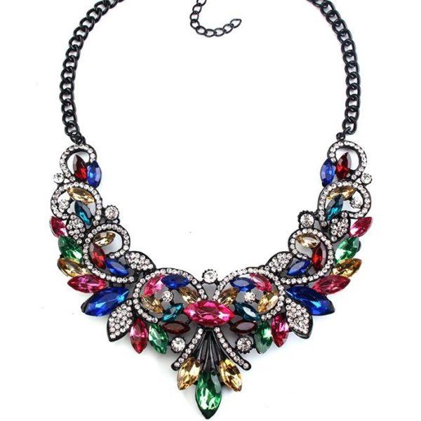 najlacnejšia bižutéria - náhrdelník - lacná bižutéria - bižutéria náušnice - bižutéria náhrdelníky - lacna bizuteria - swarovski sety - swarovsi náhrdelník - najlacnejšia bižutéria - swarovski set - doplnky na stužkovú - šperky sety - šperky z chirurgickej ocele - bižutéria sety - bižutéria náhrdelníky - darček na stužkovú - šperky na stužkovú - set náhrdelník náušnice - Náhrdelník Vintage Spring-Multi KP2396