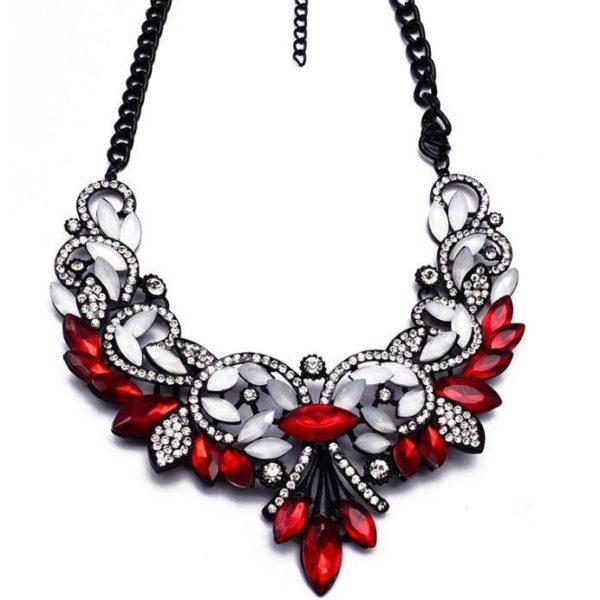 najlacnejšia bižutéria - náhrdelník - lacná bižutéria - bižutéria náušnice - bižutéria náhrdelníky - lacna bizuteria - swarovski sety - swarovsi náhrdelník - najlacnejšia bižutéria - swarovski set - doplnky na stužkovú - šperky sety - šperky z chirurgickej ocele - bižutéria sety - bižutéria náhrdelníky - darček na stužkovú - šperky na stužkovú - set náhrdelník náušnice - Náhrdelník Vintage Spring-Červená KP2398
