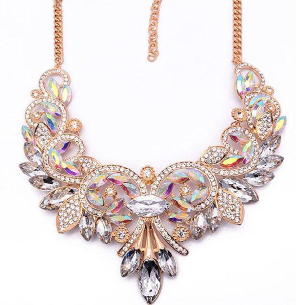 najlacnejšia bižutéria - náhrdelník - lacná bižutéria - bižutéria náušnice - bižutéria náhrdelníky - lacna bizuteria - swarovski sety - swarovsi náhrdelník - najlacnejšia bižutéria - swarovski set - doplnky na stužkovú - šperky sety - šperky z chirurgickej ocele - bižutéria sety - bižutéria náhrdelníky - darček na stužkovú - šperky na stužkovú - set náhrdelník náušnice - Náhrdelník Vintage Spring-Biela AB KP2399