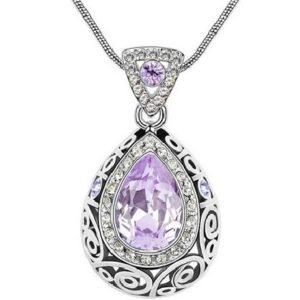 najlacnejšia bižutéria - náhrdelník - lacná bižutéria - bižutéria náušnice - bižutéria náhrdelníky - lacna bizuteria - swarovski sety - swarovsi náhrdelník - najlacnejšia bižutéria - swarovski set - doplnky na stužkovú - šperky sety - šperky z chirurgickej ocele - bižutéria sety - bižutéria náhrdelníky - darček na stužkovú - šperky na stužkovú - set náhrdelník náušnice - Náhrdelník Adalia-Fialová KP2626
