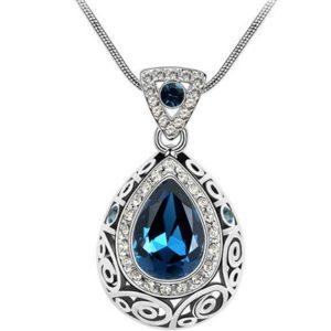 najlacnejšia bižutéria - náhrdelník - lacná bižutéria - bižutéria náušnice - bižutéria náhrdelníky - lacna bizuteria - swarovski sety - swarovsi náhrdelník - najlacnejšia bižutéria - swarovski set - doplnky na stužkovú - šperky sety - šperky z chirurgickej ocele - bižutéria sety - bižutéria náhrdelníky - darček na stužkovú - šperky na stužkovú - set náhrdelník náušnice - Náhrdelník Adalia-Modrá KP2627